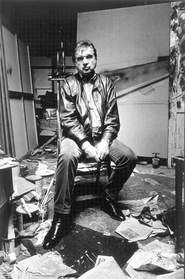 Francis Bacon in his studio.