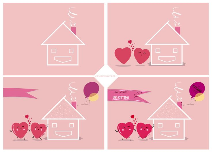 << Illustration >> Wacom Tablet & Illustrator cs6 #illustration #illustrator #adobe #graphic #wacom #hearts #house #pink