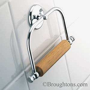 Samuel Heath Traditional Toilet Roll Holder Polished Chrome