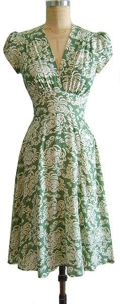 Love this vintage style. It is so flattering to so many different body shapes -- would raise the hem line a little.