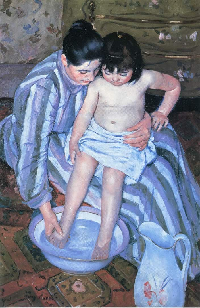 Mary Cassatt S Mother Washing Her Child S Feet