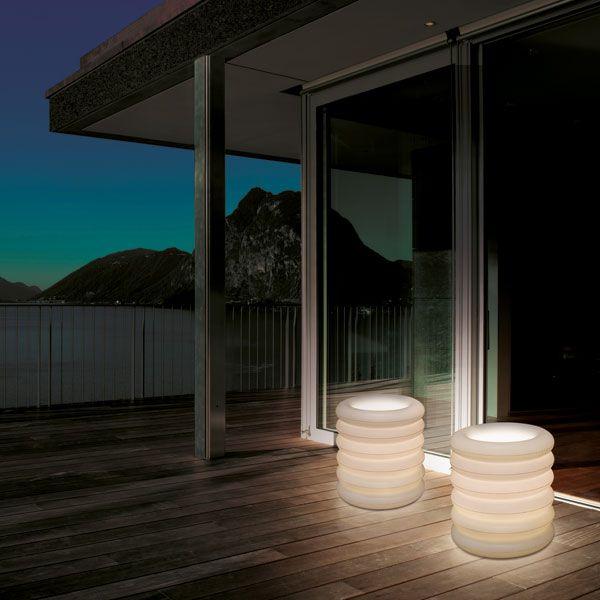 Puff columns - exterior lighting