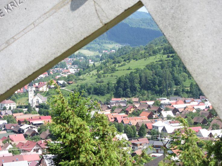 Calvary overlooking Terchova, Slovakia.