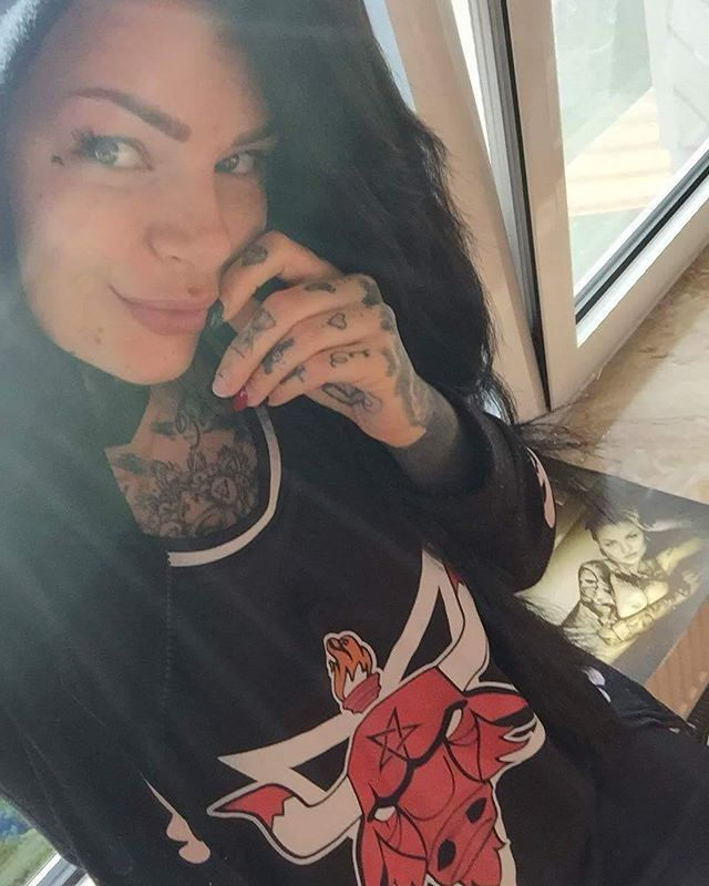 """Satanic Bulls""  Basketball Tank Top Available at www.crmc-clothing.co.uk | WE SHIP WORLDWIDE Model - @sarasurprisink #nba #tattooedwomen #hot #Basketball #womenwithtattoos #tattooedmodels #beautiful #Chicagobulls #alternative #alternativefashion #alternativestyle #basketballjersey #fashionstatement #fashiongram #darkwear #instastyle #stylegram #fashion #fashionoftheday #need #want #style #alternativeguy #alternativeboy #alternativegirl #alternativeteen #igers #love #saras"