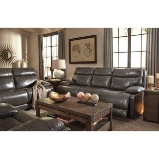 Shop for Signature Design by Ashley Palladum Grey Reclining Sofa. Get free shipping at Overstock.com - Your Online Furniture Outlet Store! Get 5% in rewards with Club O! - 21125340