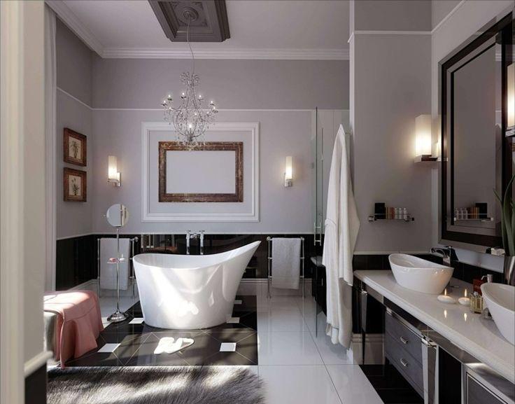 Luxus badezimmer modern schwarz  Die 25+ besten Salle de bain luxe Ideen auf Pinterest