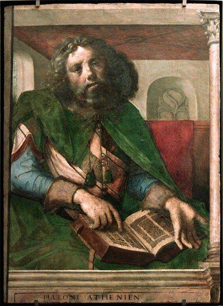 Autor: Pedro Berruguete (España) Título: Platón Cronología: 1475 Escuela: Renacimiento Tema: Retrato