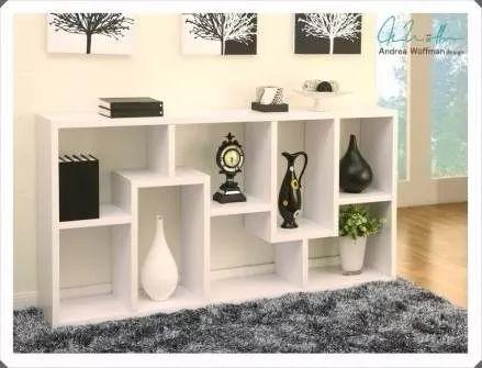 mueble estante librero multiusos en melamina de 18 mm