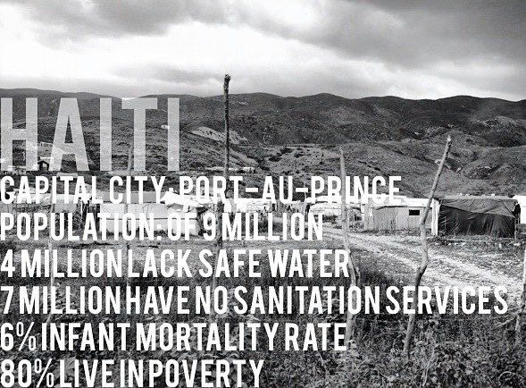 Haiti changed the way we see everything at People Water. These statistics are real and we have to do something.