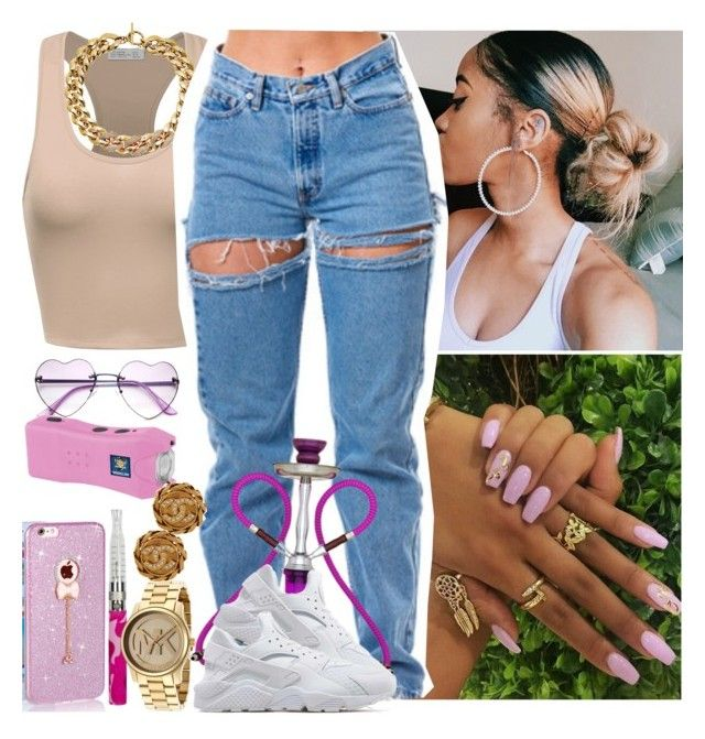 """""""House Party-Me ✨"""" by saucinonyou999 ❤ liked on Polyvore featuring Michael Kors, NIKE and Chanel"""