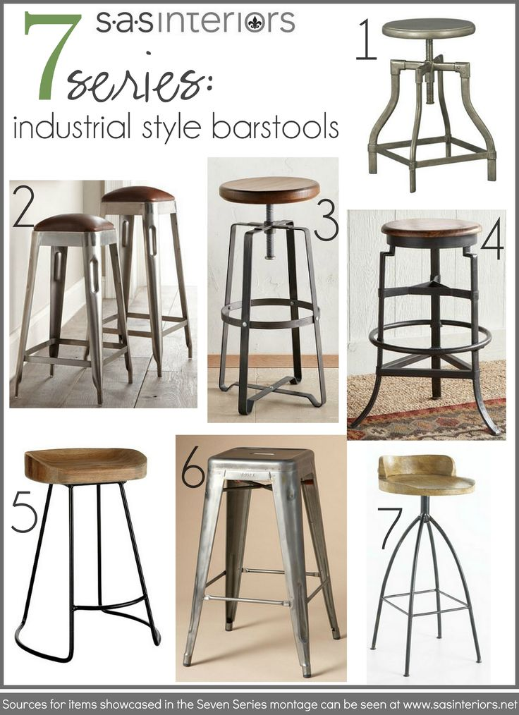A collection of my favorite Industrial Style Barstools