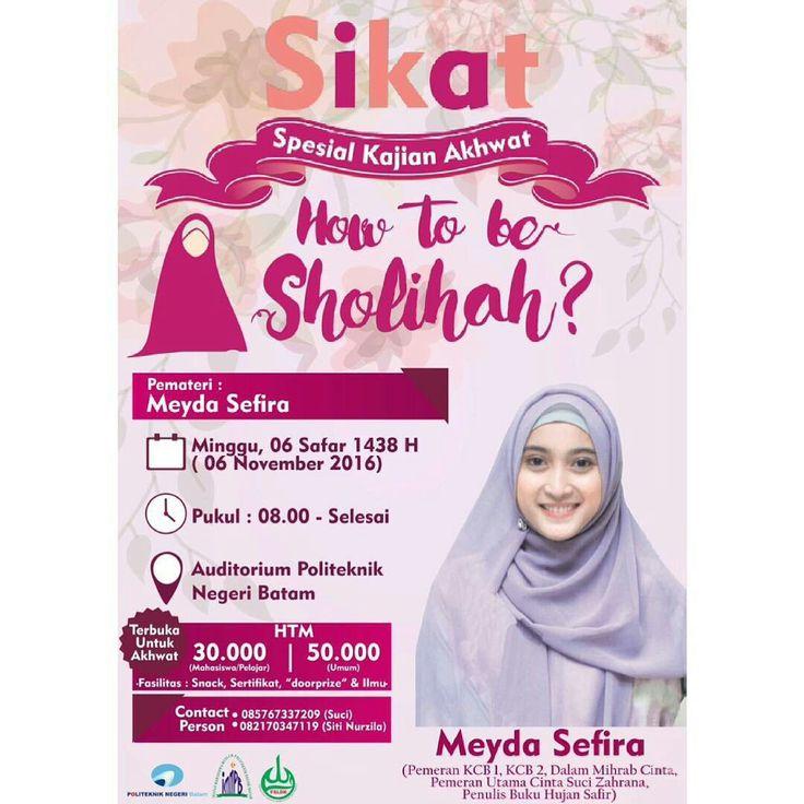 """""""Dunia adalah perhiasan, dan sebaik-baik perhiasan dunia adalah wanita sholehah"""" [H.R. Muslim]   . ..."""