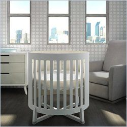 Tulip Soren Round Crib with Mattress