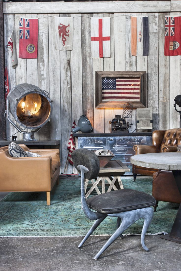 Eclectic interior decor is anything but boring. Antique leather, custom  industrial furniture, textured - 49 Best Big Daddy's Antiques San Francisco Images On Pinterest Big
