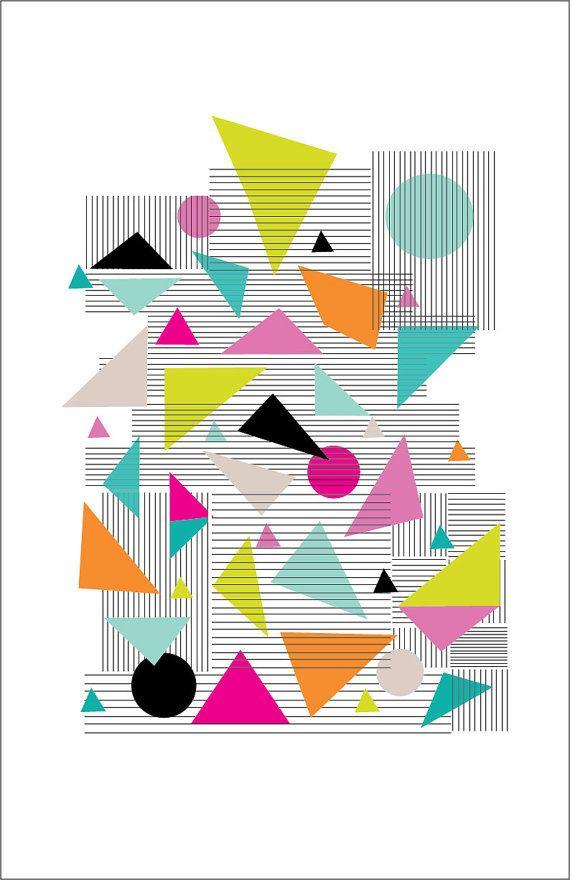 Modern Bright Geometric Print - 11 x 17