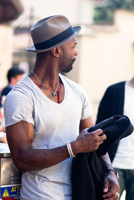 Fashion Week Street Style: Man Jewelry, Bracelets, and Scarves in ...