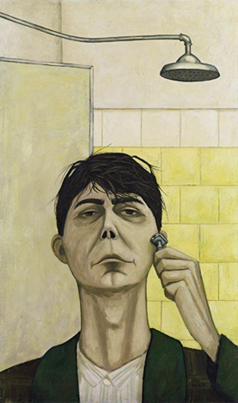 John Brack, Self-portrait, 1955 | Self-portrait by John Brack (Australia, 1920–1999), 1955, oil on canvas, 81.5 x 48.3 cm | National Gallery of Victoria, Melbourne, Purchased with the assistance of the National Gallery Women's Association, 2000, © Helen Brack