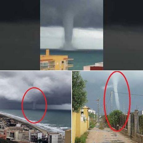 TROMBA MARINA A POCHI METRI DALLE CASE, le immagini sono spaventose / GUARDA - http://www.sostenitori.info/tromba-marina-a-pochi-metri-dalle-case/268258