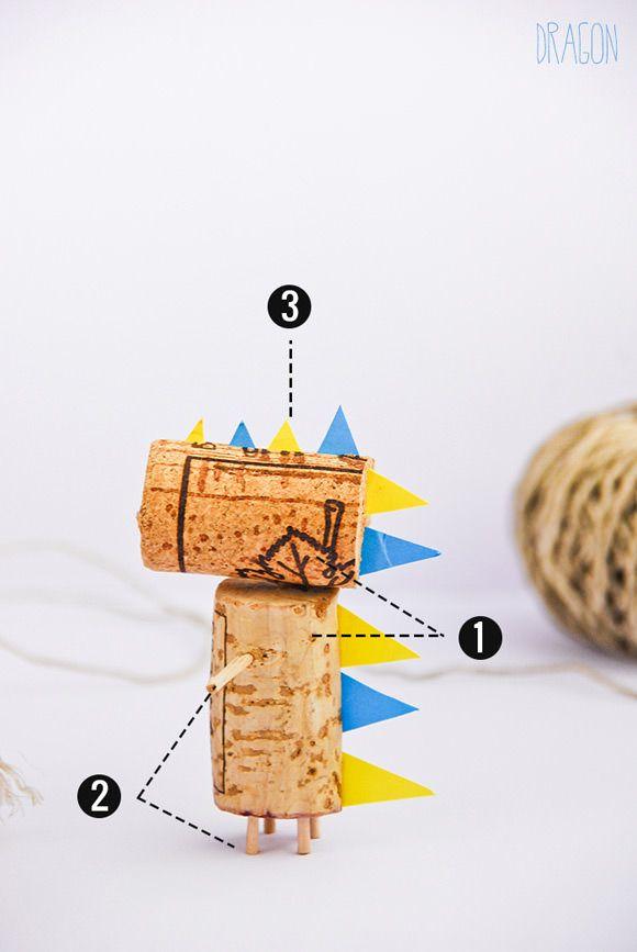 How To Make A DIY Cork Dragon