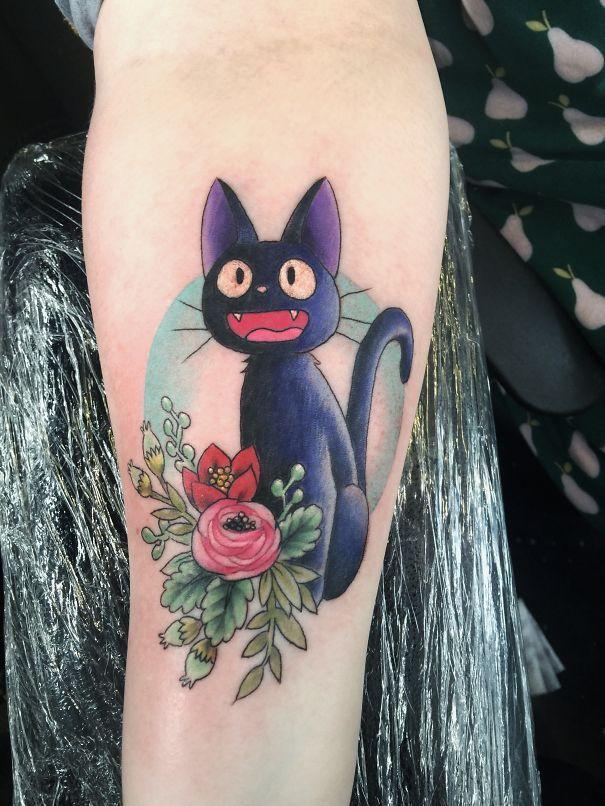 Increíbles tatuajes inspirados en películas del Studio Ghibli. Me encantan!