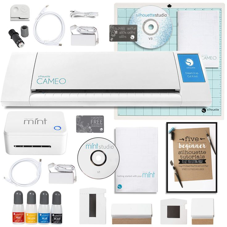 Silhouette America Cameo Cutting Machine and Silhouette Mint Stamping Machine Bundle