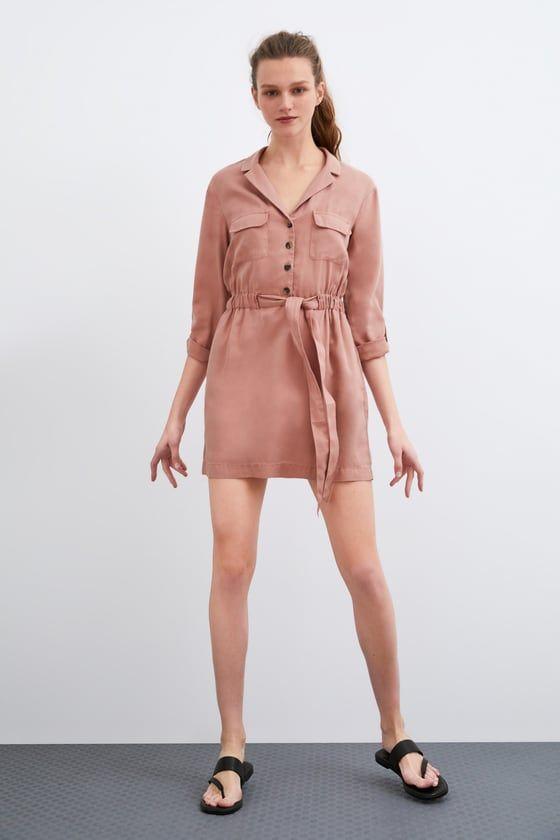 edf2322a9cc ZARA - FEMME - ROBE À CEINTURE Zara Femme Robe