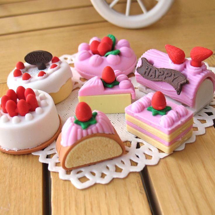 4Pcs/Lot Random Eraser Rubber Stationery New Cake Shaped Creative Cute School Supplies For Kids H1069-in Eraser from Office & School Supplies on Aliexpress.com | Alibaba Group