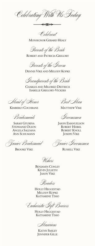 Catholic Wedding Mass Order | Catholic Wedding Program-Wedding Program Examples Wording-Wedding ...