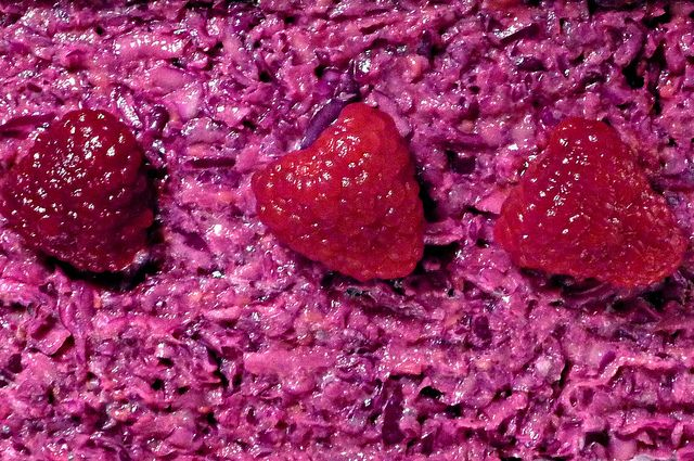 Raspberries on Red Cabbage Salad | Flickr - Photo Sharing!