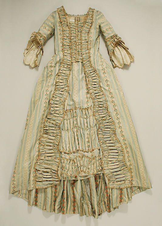 Robe à la Française Date: 1774–93 Culture: French Medium: silk