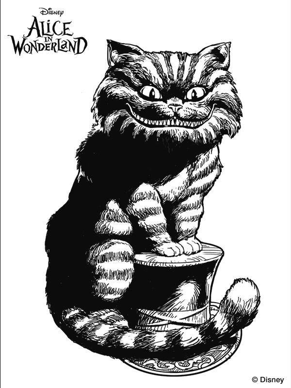 93 best alice in wonderland adult coloring pages images on ... - Cheshire Cat Smile Coloring Pages