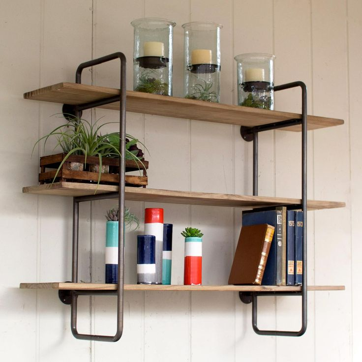 Shelves For Kitchen Wall: 501 Best Images About Industrial Pipe Shelves On Pinterest