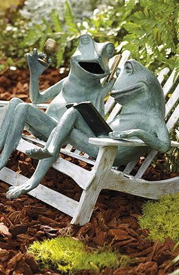 Weekend Retreat Frogs. More Frontgate Frogs~ Getting These Too. Garden  StatuesGarden SculpturesFrog And ...