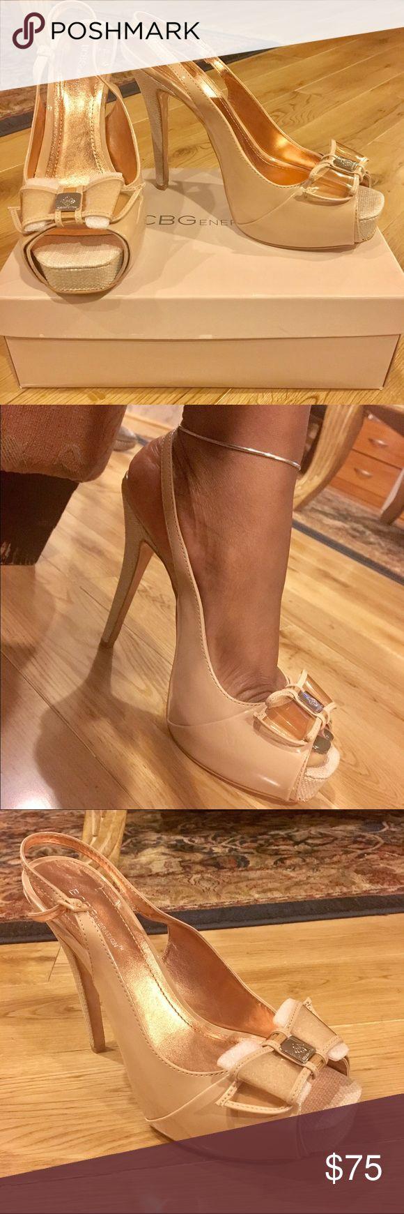 BCBGeneration BG-Angelo Nude Heels NEVER WORN! Designer: BCBGeneration| Style: BG-Angelo heels | Color: Mojave (nude) | Size: 11 BCBGeneration Shoes Heels
