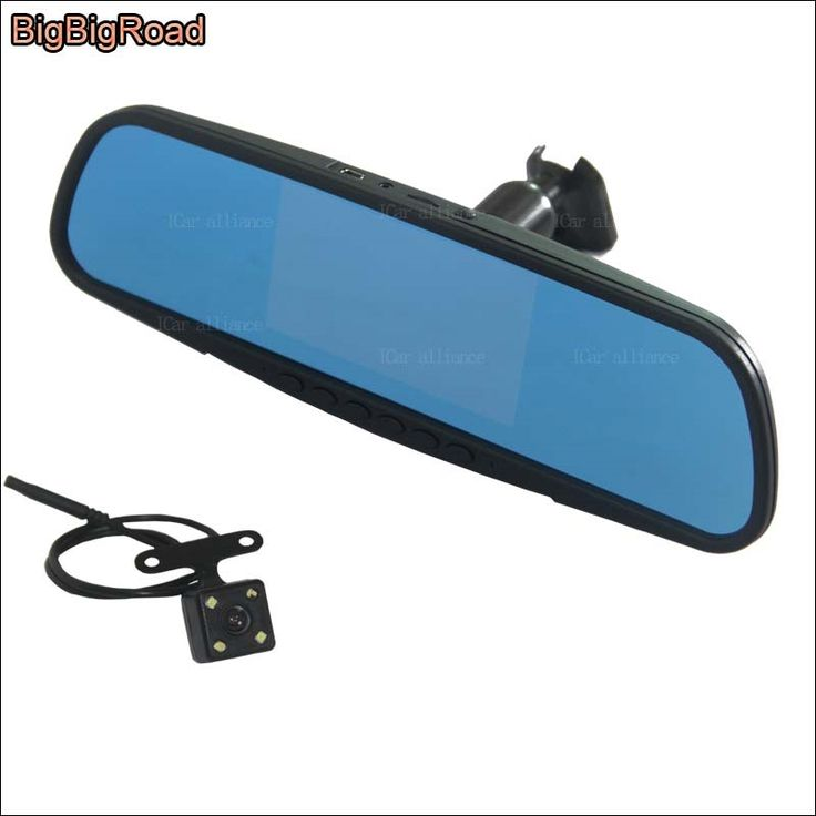 84.06$  Buy now - http://alicuq.shopchina.info/1/go.php?t=32776242435 - BigBigRoad For buick verano Dual Lens Car front Camera Blue Screen DVR rearview mirror video registrator dash cam FHD 1080P  #magazineonlinewebsite