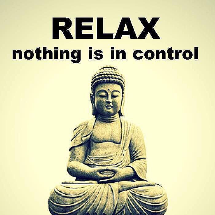 """Relax. Nothing is in control."""