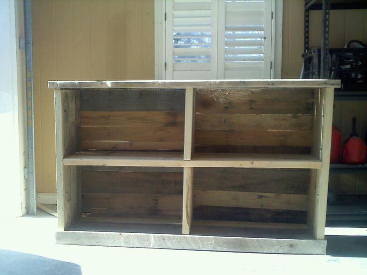 Pallet bookcase/ console table.