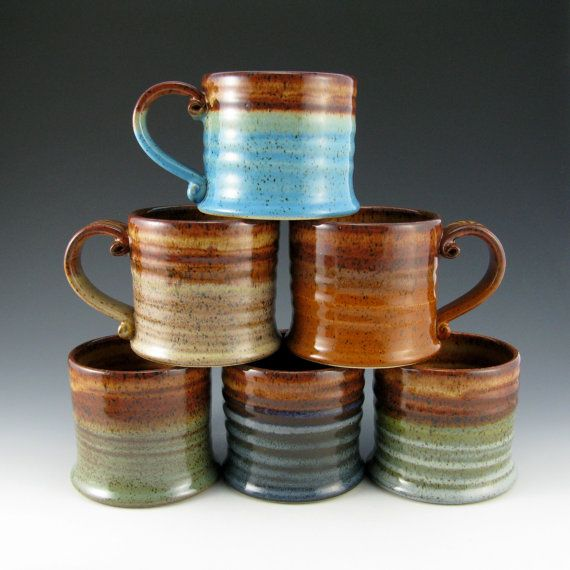 hot cocoa mugs by twisted river clayworks