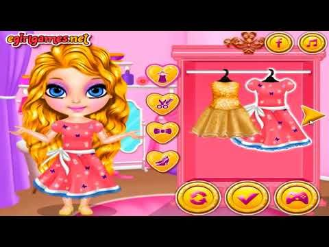 Baby Barbie Glittery Fashion Makeup Game Baby Barbie Makeover Dress Up Games for Girls - YouTube