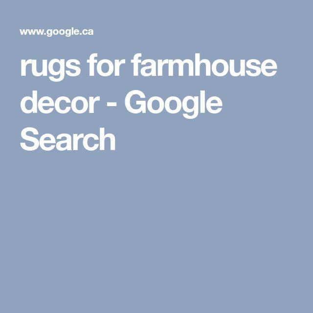 rugs for farmhouse decor - Google Search