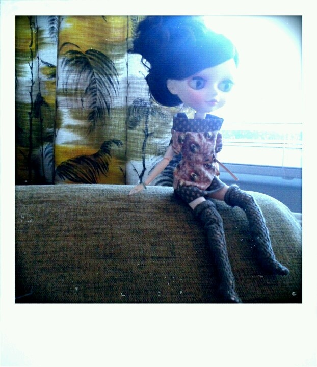 Outfit made by me, for my tangkou doll. Olive / sage tones.