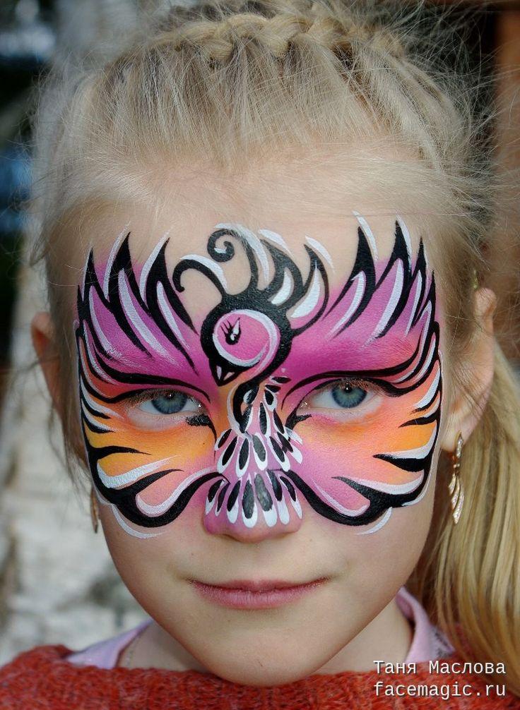 Bird mask. Face paint by Tanya Maslova.