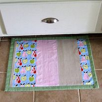 Sewing for the Home ~ Patchwork Kitchen Mat