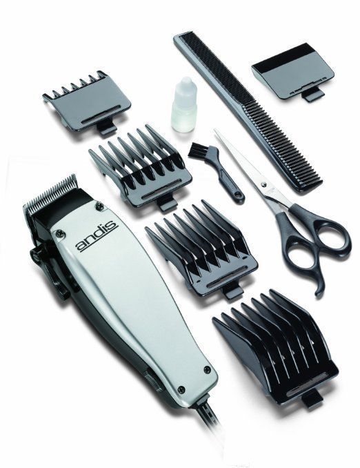 Andis Easy Cut 10Piece Hair Clipper Kit, Silver/Black Electric Men Trimmer #Andis #Hair #Clipper #Kit #Trimmer