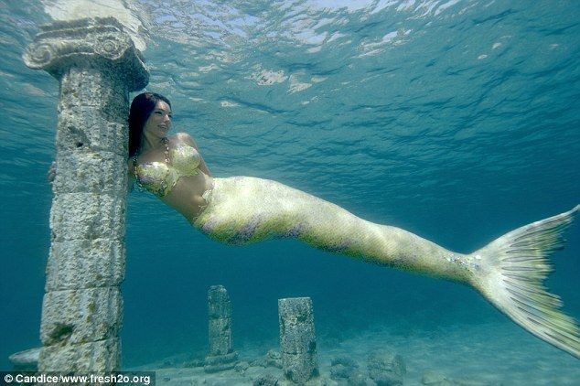 Underwater beauty: Kelly Brook has modelled as a mermaid for Water Aid's fresh2o campaign which aims to highlight the global water crisis which is killing up to 5,000 children around the globe every day