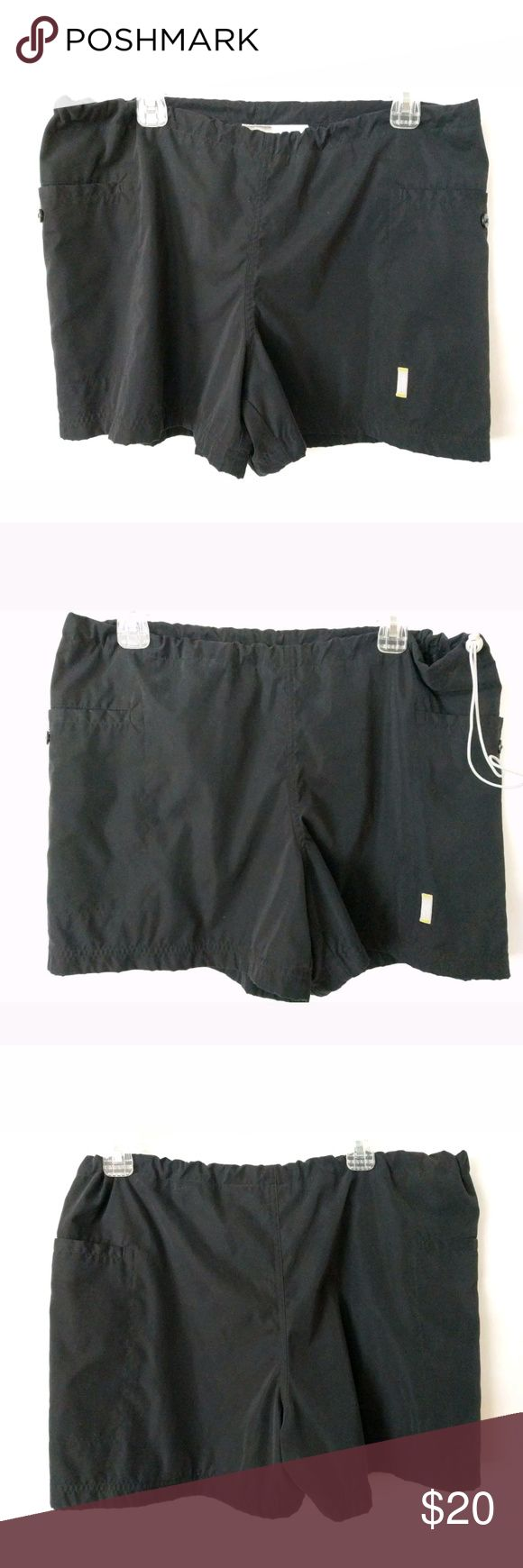 Nike Swimming Shorts Large Size 12-14 Black Nike Women Swimming Shorts Size Large 12-14 Adjustable Waist Pull Strings Pockets Mesh Lining Black Nike Shorts