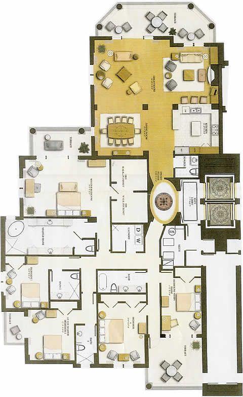 Stunning Apartment Blueprints. Luxury Floor Plans  valencia floor plan vista del mar luxury Apartment 300 best Planos de casas images on Pinterest House design