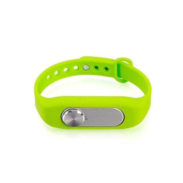 Bracelet enregistreur vocal boîtier amovible 4Go mémoire flash Vert Yonis