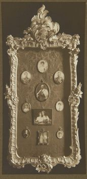 Frame containing miniatures of King Edward VII and his family [Marlborough House, 1912]