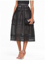 Very Full Lace Skirt - Black